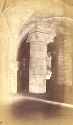 Part Of Crypt Under The Choir, AD 1121; Pillar To Support Vault Inserted AD 1182